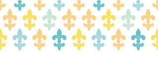 God and blue lily horizontal seamless pattern Royalty Free Stock Photo