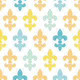 God and blue lily seamless pattern background Royalty Free Stock Photography