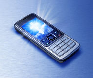 Cross Cell Phone Religion  Royalty Free Stock Photography
