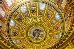 God Christ Dome Saint Stephens Cathedral Budapest Hungary. Dome God Christ Basilica Arch Saint Stephens Cathedral Budapest Hungary.  Saint Stephens named after Royalty Free Stock Photo