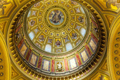 God Christ Dome Saint Stephens Cathedral Budapest Hungary. Dome God Christ Basilica Arch Saint Stephens Cathedral Budapest Hungary.  Saint Stephens named after Stock Images