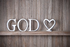 God Christian Love Wood Background Royalty Free Stock Photography