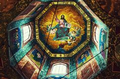 God on church ceiling paintings Royalty Free Stock Photography