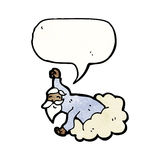 God on cloud cartoon Royalty Free Stock Images