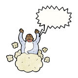God on cloud cartoon Royalty Free Stock Photos