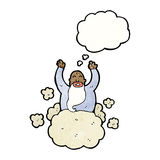 God on cloud cartoon Royalty Free Stock Photography