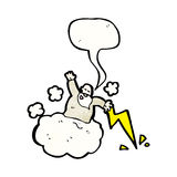 God on cloud cartoon Stock Photos