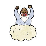 God on cloud cartoon Royalty Free Stock Photos