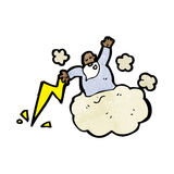 God on cloud cartoon Stock Photo