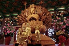 The God Of Compassion And Mercy. Shoot From Wat Barom Racha kanchanapisek stock image