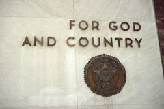 For God and Country stock photo
