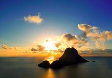 God in de zonsondergang Royalty-vrije Stock Fotografie