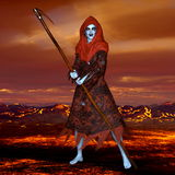 The god of death. 3D CG rendering of the god of death Royalty Free Stock Photo