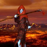 The god of death. 3D CG rendering of the god of death Stock Images