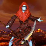 The god of death. 3D CG rendering of the god of death Royalty Free Stock Photos