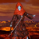The god of death. 3D CG rendering of the god of death Royalty Free Stock Photography