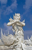 God of death statue at white temple Stock Image