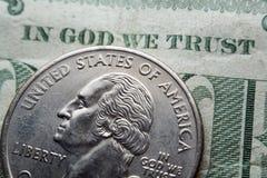In God die wij hebben vertrouwd op. stock afbeeldingen