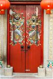 God of Door in China/Hong Kong Temple royalty free stock image