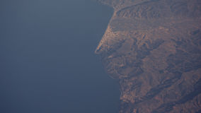 God eye view of Ocean and part of Morocco. 2017 Royalty Free Stock Image
