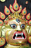 The god face sculpture in Nepal royalty free stock photography