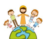 God and family design. Illustration eps10 graphic Royalty Free Stock Photos