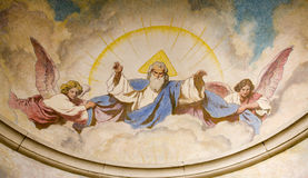 GOd of the Father. From Vienna church of st. Francis Stock Photography