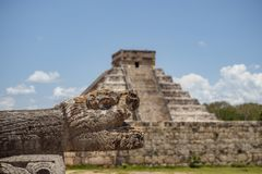 God feathered serpent mayan kukulkan quetzalcoatl stock image