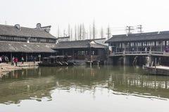 God Fortune bay. This photo was taken in Wuzheng Dongzha, Jiaxing city,Zhejiang province,china Stock Image