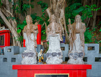 God of Fortune (Fu,Hok), Prosperity (Lu,Lok), and Longevity (Shou,Siu). Repulse Bay, Hong Kong - November 19, 2015: Fuk, luk, sau are the gods of WEALTH stock photos