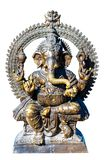 God Ganesh  bronze sculpture. God Ganesh isolated bronze sculpture stock images