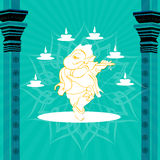 God ganesha. Silhouette view of god ganesha Royalty Free Stock Image