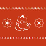 God Ganesha. The Indian God Ganesha and artistic rangoli Royalty Free Stock Photos