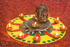 God Ganesha. At Diwali Festival Royalty Free Stock Photo