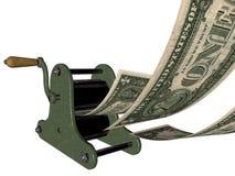 In God (of geld) wij vertrouwen op - makend geld Stock Afbeelding