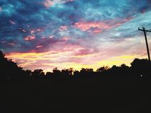 God given sky stock photo