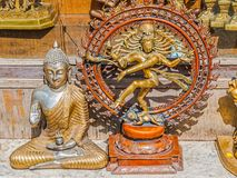 God and Goddess statues Stock Photo