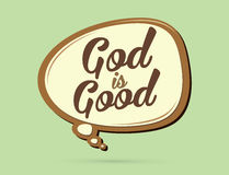 God is Good text. In balloons graphic vector Stock Photos