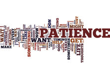 God Grant Me Patience And I Want It Now Word Cloud Concept Stock Image