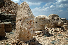 God heads on mount Nemrut, Turkey Royalty Free Stock Image