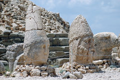 God heads at the top of Mount Nemrut in Turkey Stock Image