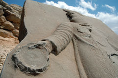 God heads at the top of Mount Nemrut in Turkey Royalty Free Stock Photo