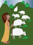 god herde royaltyfri illustrationer