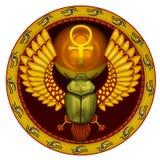 God het heilige zonneinsect Stock Foto