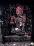 God of Hinduism. Ritual Hindu god statue on the streets of Kathmandu Royalty Free Stock Images