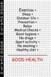 god hälsa för begrepp Arkivfoto