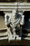 God and holy spirit in Venice. Ancient relief of Holy Spirit descending from God in the form of a dove Stock Photography