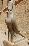The God Horus. A statue of the Egyptian God Horus in bird form. From the temple of Luxor, Egypt royalty free stock photography