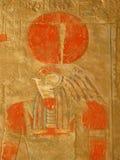 God Horus bij Tempel van Koningin Hatshepsut, Luxor Royalty-vrije Stock Fotografie