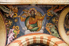 God image on church ceiling Royalty Free Stock Photo